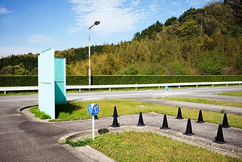 Xa hình của một trường dạy lái xe tại Nhật.