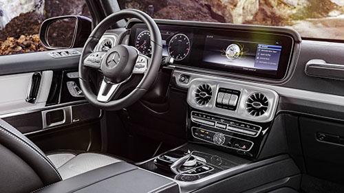 Nội thất G-Class 2019 hiện đại hơn thế hệ cũ nhiều. Ảnh: Motor1.