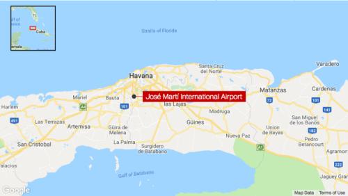 Vị trí sân bay Jose Marti. Đồ hoạ: CNN.