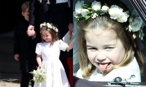 Charlotte tinh nghịch, George nhút nhát trong đám cưới hoàng gia