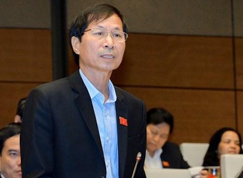 Đại biểu Bùi Văn Phương - Phó trưởng đoàn đại biểu Quốc hội tỉnh Ninh Bình. Ảnh: Quốc hội