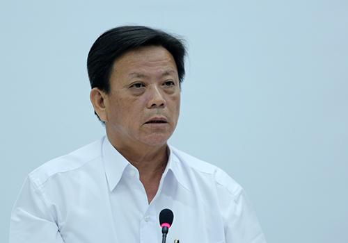 Ông Nguyễn Thanh Xuân tại buổi cung cấp thông tin cho báo chí chiều 25/5. Ảnh: Nguyễn Đông.