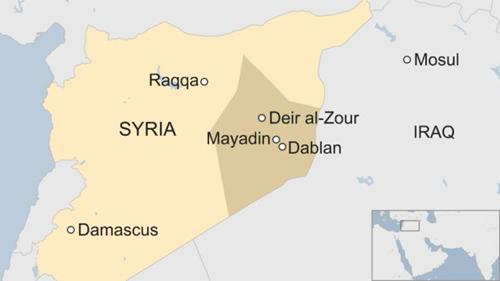 Vị trí tỉnh Deir Ezzor