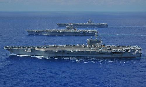 Các tàu sân bay trong biên chế hải quân Mỹ. Ảnh:US Navy.