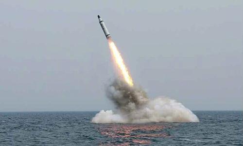 Triều Tiên hôm phóng một tên lửa đạn đạo từ tàu ngầm trong một cuộc thử nghiệm:KCNA.