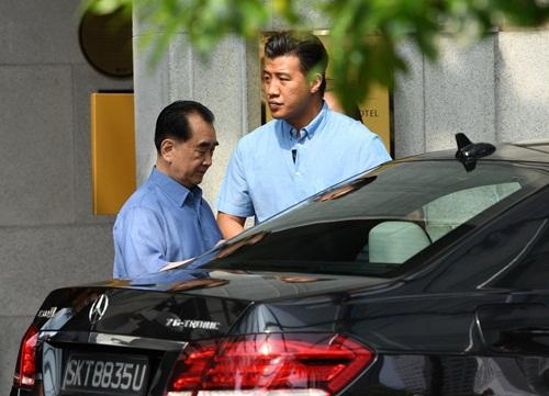 Ông Kim Chang-son tới Singapore hôm 29/5. Ảnh: AFP.