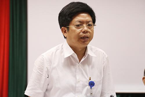 Ông Nguyễn Trọng Khoa tại buổi cung cấp thông tin. Ảnh: Phạm Dự.