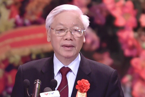 Tổng bí thư Nguyễn Phú Trọng phát biểu tại lễ kỷ niệm. Ảnh: VGP