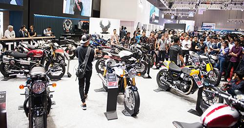 Nhiều hãng môtô phân khối lớn xuất hiện tại triển lãm Vietnam AutoExpo 2018.