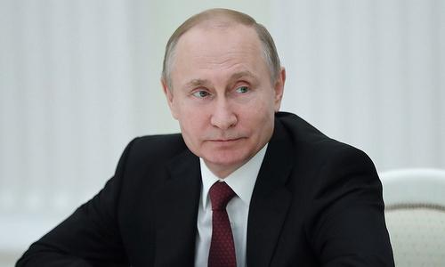 Tổng thống Putin trong một cuộc họp tháng 5/2018. Ảnh: TASS.