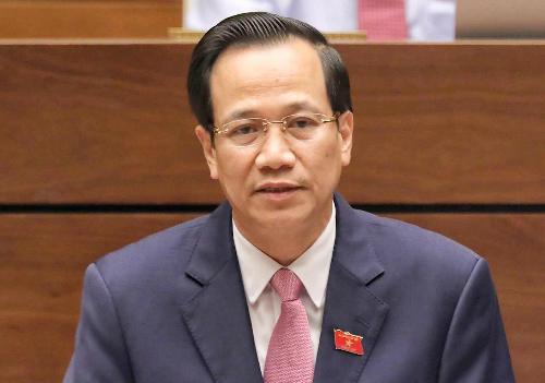Bộ trưởng Lao động Thương binh Xã hội Đào Ngọc Dung, Ảnh: QH