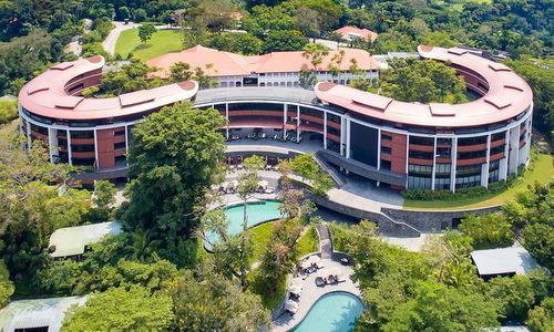 Khách sạn Capella nhìn từ trên cao năm 2016. Ảnh: Capella Hotels.