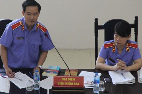 Đại diện VKSND Cấp cao tại Hà Nội tại phiên xét xử phúc thẩm sai phạm xảy ra tại PVP Land.