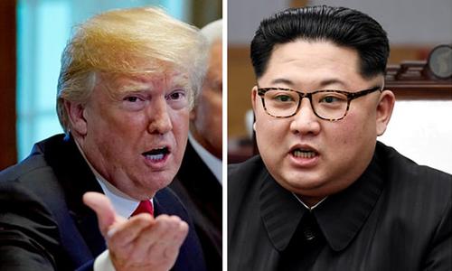 Tổng thống Mỹ Donald Trump và lãnh đạo Triều Tiên Kim Jong-un. Ảnh: Reuters.
