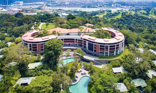 Khách sạn Capella ở đảo Sentosa, Singapore, nơi diễn ra hội nghị thượng đỉnh Mỹ - Triều ngày 12/6. Ảnh: Reuters.