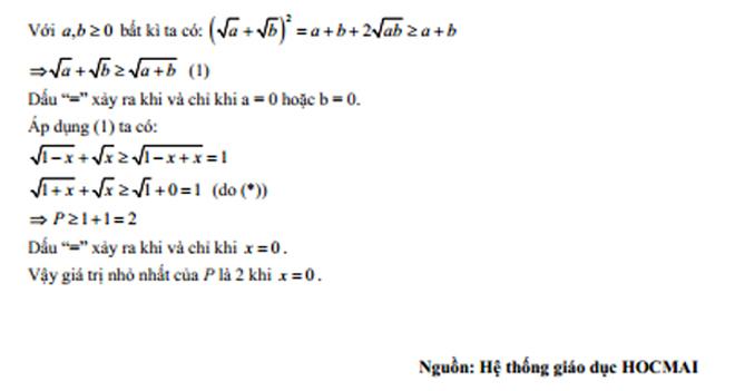 Gợi ý đề thi Toán vào lớp 10 công lập ở Hà Nội
