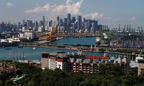 Đảo Sentosa, nơi diễn ra hội nghị thượng đỉnh Mỹ - Triều, cách trung tâm Singapore 700 m. Ảnh: Reuters.