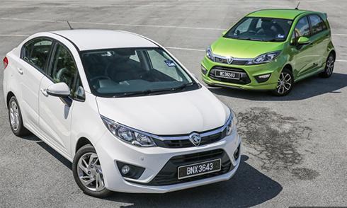 Một số sản phẩm của hãng xe Proton tại Malysia.