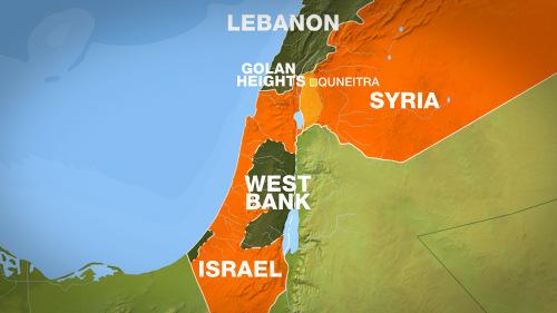 Vị trí cao nguyên Golan. Đồ họa:Al Jazeera.
