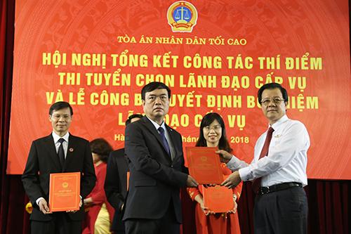 Bốn người trúng tuyển chức vụ lãnh đạo tại TAND Tối cao - ảnh 1