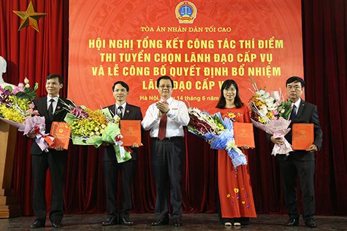 Bốn người trúng tuyển chức vụ lãnh đạo tại TAND Tối cao - ảnh 2