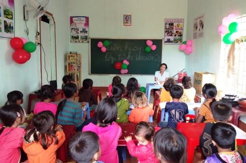 Lớp học của cô giáo Rmah HBlao. Ảnh: Việt Hiến.