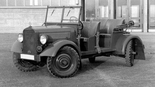 VL 170, mẫu xe quân sự sử dụng hệ thống lái bốn bánh đầu tiên trên thế giới.