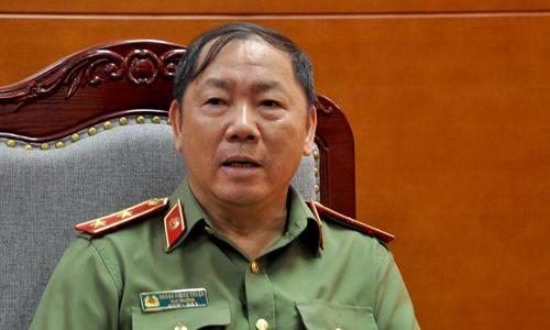 Trung tướng Hoàng Phước Thuận, Cục trưởng An ninh mạng. Ảnh:Viết Tuân.