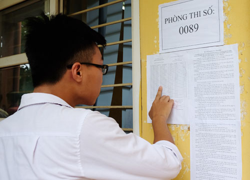 Đề thi THPT quốc gia được in sao, bảo mật chặt chẽ. Ảnh thí sinh tham dự kỳ thi THPT quốc gia năm 2017: Quỳnh Trang.