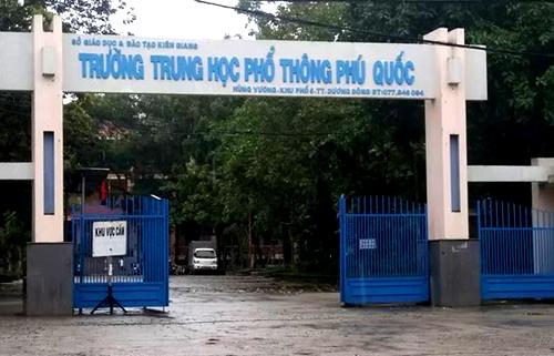 Điểm thi THPT Phú Quốc sẽ có hơn 600 thí sinh dự thi. Ảnh: Cửu Long.