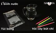 Giải thích thí nghiệm nước không tràn khi đâm bút chì xuyên túi