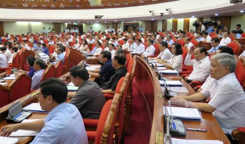 Các đại biểu tham dự hội nghị toàn quốc về công tác phòng, chống tham nhũng. Ảnh: VGP