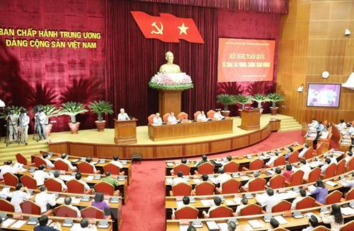 Hội nghị toàn quốc về công tác phòng, chống tham nhũng. Ảnh: TTXVN.