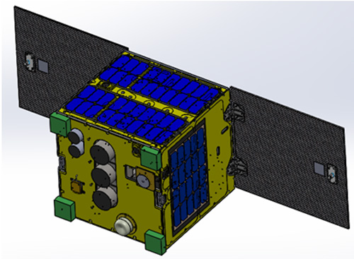 Mô hình vệ tinh MicroDragon. Ảnh: VNSC.