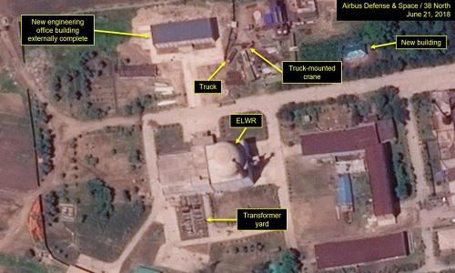 Ảnh vệ tinh chụp ngày 21/6 cho thấy Triều Tiên vẫn nâng cấp cơ sở hạt nhân Yongbyon. Ảnh: 38 North.