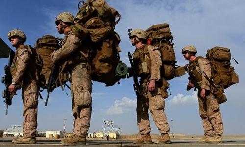 Các binh sĩ thuộc lực lượng thủy quân lục chiến Mỹ. Ảnh: AFP.