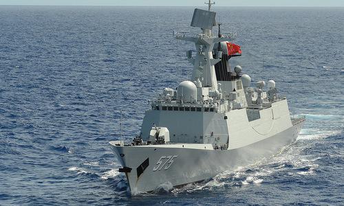 Tàu hộ vệ tên lửa Trung Quốc tại RIMPAC 2014. Ảnh: USNI.