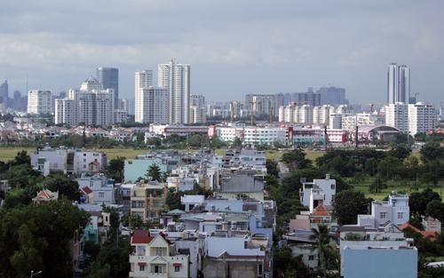 Một phần khu đô thị Nam Sài Gòn. Ảnh: Duy Trần