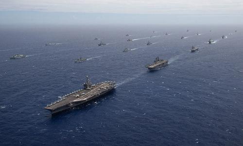 Các tàu chiến tham gia RIMPAC 2018. Ảnh: US Navy.