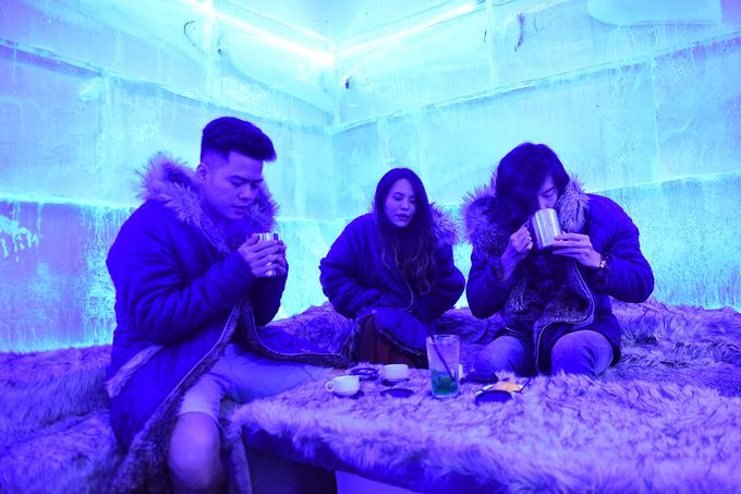 Quán cà phê băng âm 10 độ C đầu tiên tại Hà Nội