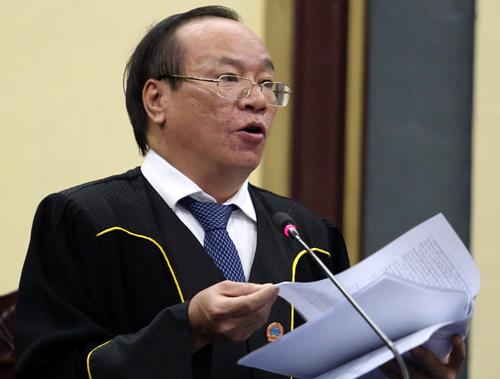 Chủ tọa Vũ Thanh Lâm - Phó tòa Hình sự TAND TP HCM. Ảnh: Thành Nguyễn.