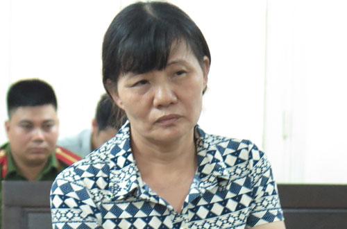 Bị cáo Trần Thị Sáu tại phiên tòa hôm nay.