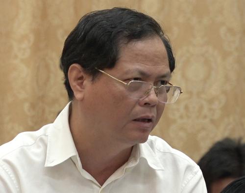 Bí thư quận Long Biên Đỗ Mạnh Hải. Ảnh: Thế Quỳnh.