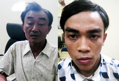 Hai cha con Khanh và Thành.