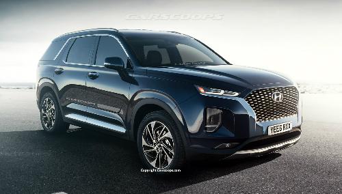 Hyundai Palisade theo hình dung của Carscoops.