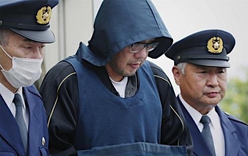 Nghi phạm Shibuya khi bị bắt giữ. Ảnh:JPT.