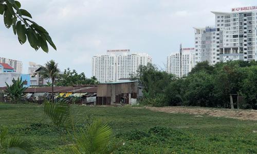 Một phần khu đất Quốc Cường Gia Lai mua của Công ty Tân Thuận. Ảnh:Tuyết Nguyễn