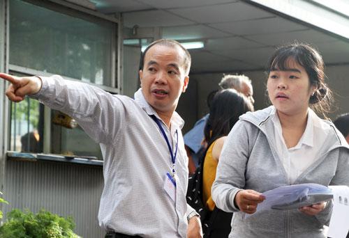 Thí sinh dự thi đánh giá năng lực tại Đại học Khoa học Tự nhiên (TP HCM). Ảnh: Mạnh Tùng.