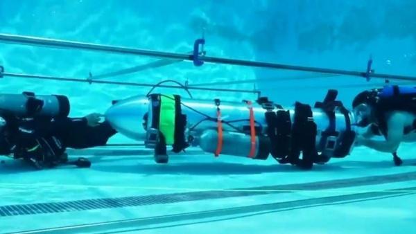 Bản thử nghiệm tàu ngầm mini của Elon Musk. Ảnh: Twitter/ElonMusk.