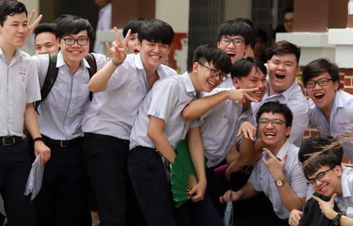Thí sinh dự thi THPT quốc gia ở TP HCM. Ảnh: Quỳnh Trần.